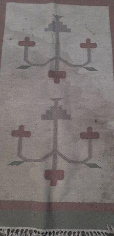 Tapete em lã natural Kilim indiano 90 x 150 cm - Foto 2