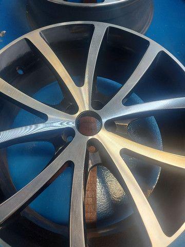 Barbada jogo rodas aro 20 topp furação 5x100 - Foto 3