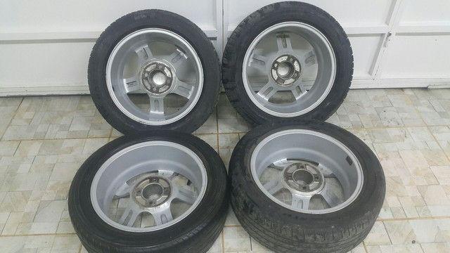 Aro 15 com pneu 195/50 R$: 2.000 tel: 9.9964.7494 - Foto 3
