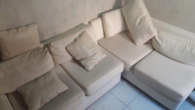 Sofá de couro branco - Foto 4