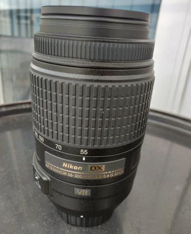 Câmera Nikon D3200 + lentes 18-55mm e 55-300mm - Foto 3