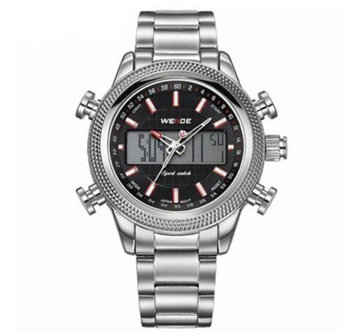 435a7afe905 Relógio Masculino Weide Anadigi WH 3406 - Prata - Bijouterias ...