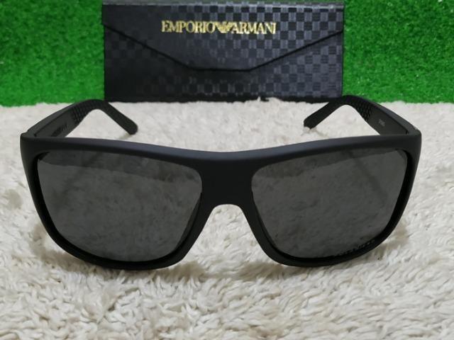 7553ba287938f Óculos de sol Empório Armani todo preto - Bijouterias, relógios e ...