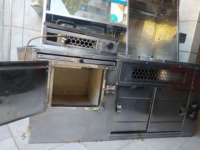 Kit para lanches e hot dog completo com muitos compartimentos... - Foto 2
