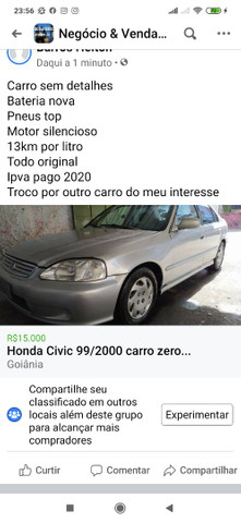 Honda Civic 99 modelo 2000