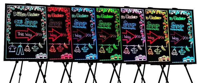 Lousa Luminosa de LED Cavalete 50 x 70 com / 110V/220V (Bivolt) - Foto 2