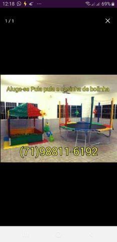R$150,00 Aluguel de pula pula e piscina de bolinhas