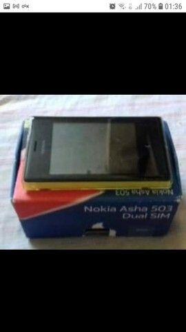 Nokia asha 503(bom estado). Possui caixa, com fone e carregador.<br><br>Valor: 110,00