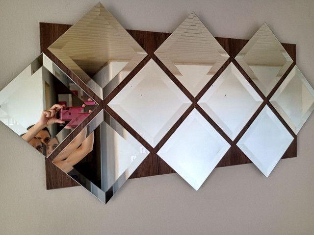Painel de espelhos com 1,20 x 60 pronto para pendurar na parede - Foto 5