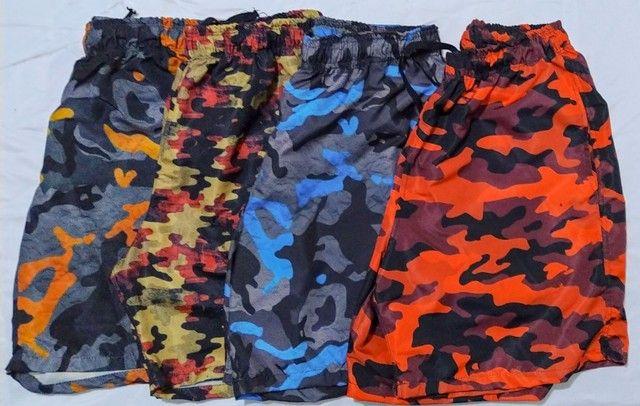 Shorts Tactel Sublimada Masculinos - Foto 2
