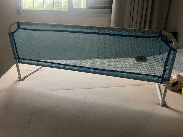 Grade de proteção para cama azul tubline