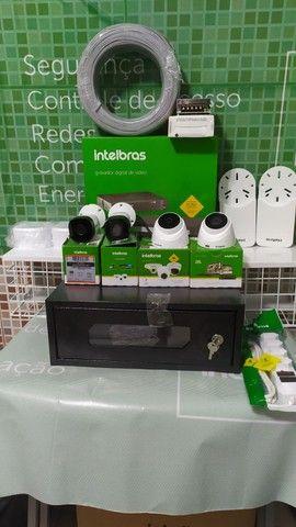 Kit com 4 câmeras de segurança e instalação  - Foto 2