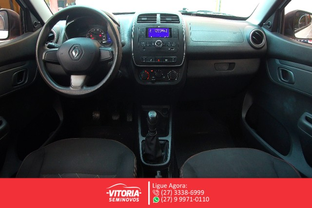 Renault Kwid Zen 1.0 Flex Mec. 2018 Pouco Km. - Foto 7