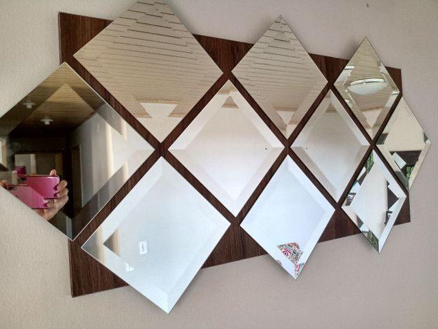 Painel de espelhos com 1,20 x 60 pronto para pendurar na parede - Foto 3