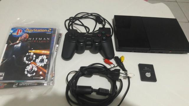 PS2 16 jogos 1 controle semi novo