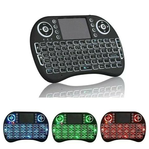 Mini Teclado Wireless Bluetooth Smart Tv Boxtv Xbox Pc Ps3 Com LED