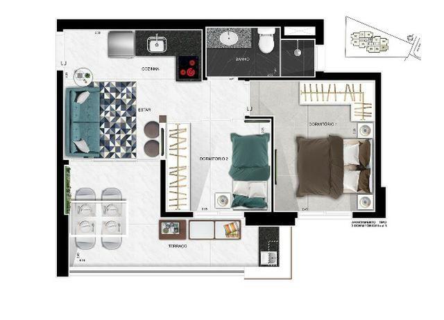 Up Side Paulista, apartamentos de 2 e 1 dormitório, com vaga. Imperdível! - Foto 3