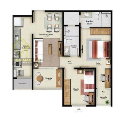 Apartamento à venda com 1 dormitórios em Jardim camburi, Vitória cod:8345 - Foto 20