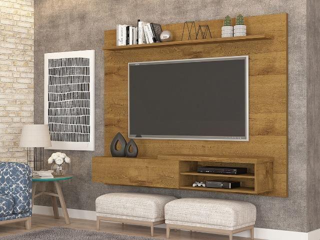 Painel Home suspenso para TV 55'' - Paris *NOVO* ShopMix Móveis Modernidade - Foto 3
