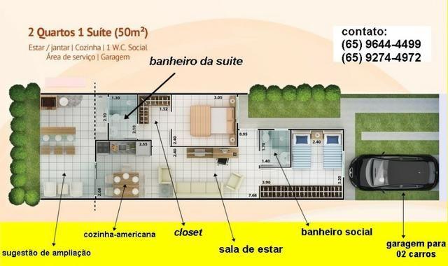 Condomínio Rio Jangada casa de 02 quartos sendo 01 suite Ac. Financiamento - Foto 10