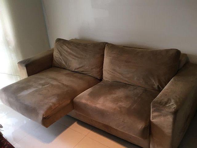 Sofá confortável em suede 2.22m - Foto 3