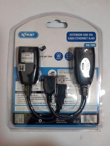 Adaptador extensor USB via cabo de rede RJ45