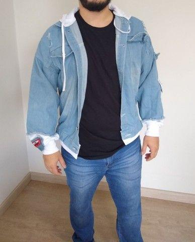 Jaqueta Jeans Destroyed - Foto 2