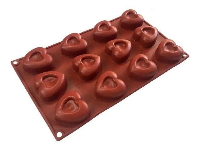 Forma Molde Silicone De Coração para bombons, gelo, chocolate, sabonete, biscoito, etc. - Foto 2