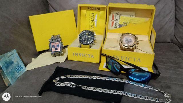 Relógios , corrente Prata e óculos da Oakley . - Foto 6