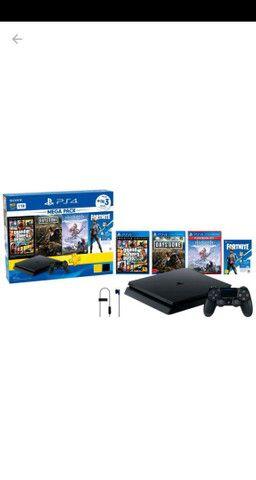 Playstation 4 slim 1Tb + jogos ainda na garantia - Foto 2