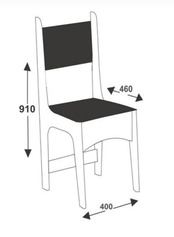 Conjunto Mesa 4 Cadeiras Sonetto - Foto 5