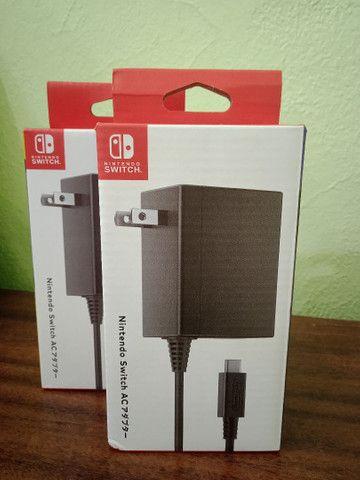 Fonte carregador Adaptador AC Nintendo Switch Original Lacrado