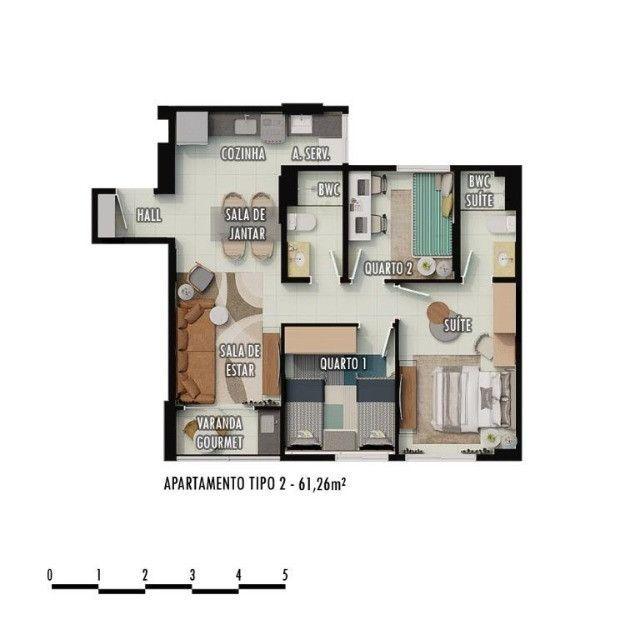 Gk Viver Bem Condomínio Club - Camaragibe - 2 e 3 Q (sendo 1 Suite) - - Foto 6
