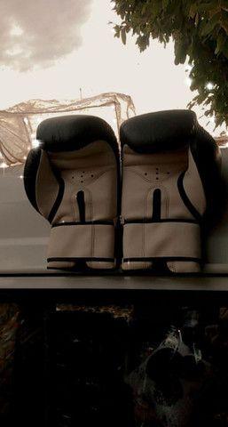 Luvas de boxe ou muhay tai, tamanho 14, em ótimo estado... - Foto 4