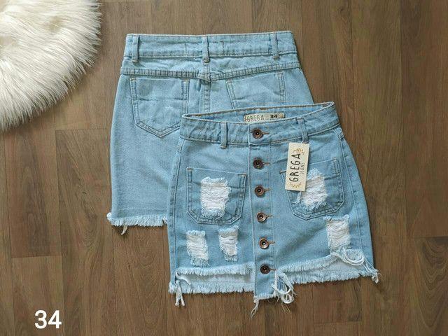 Shorts jeans e saias jeans - Foto 4