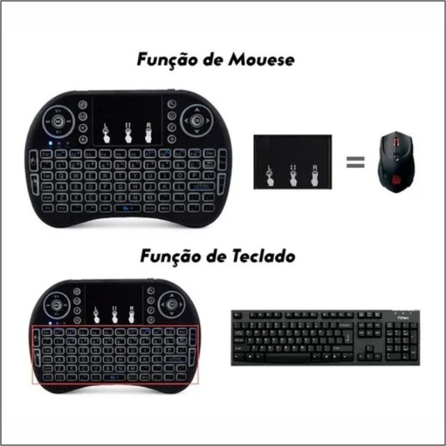 Mini Teclado Keyboard Sem Fio Wireless - Foto 3
