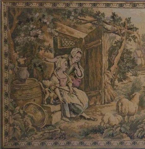 Quadro Tapeçaria Vintage Antigo - leia - Foto 4