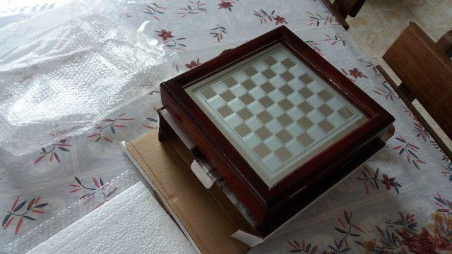 Jogo de xadrez, NOVO, em vidro - Foto 5