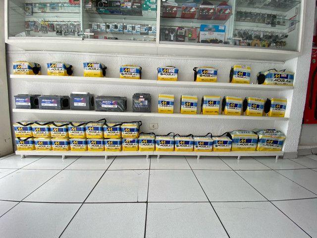Bateria moura 40ah garantia 18meses a base de troca entrega  - Foto 3