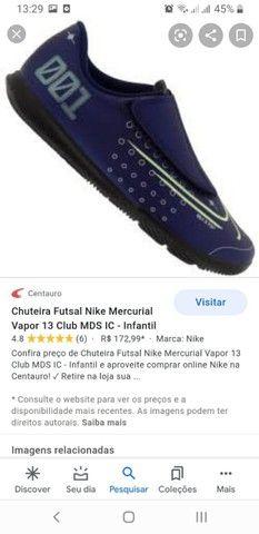 Chuteira Futsal infantil Nike  - Foto 4