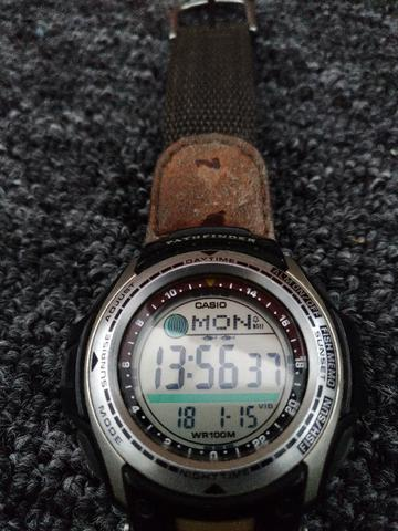 Casio pathfinder forester fishing moon bijouterias for Casio pathfinder fishing watch