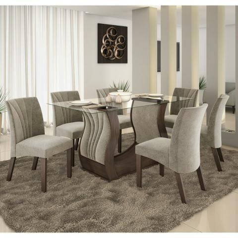 Mesa de Jantar 06 Cadeiras Fortuna zap 62 99354-977