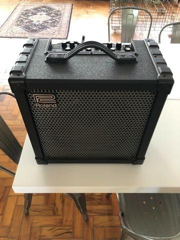 Cubo Amplificador Profissional Roland Para Baixo Cube-80X - Foto 2
