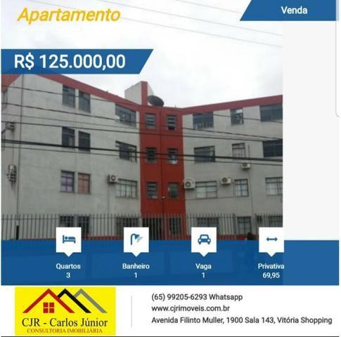 Apartamento 3 quartos no Coophamil