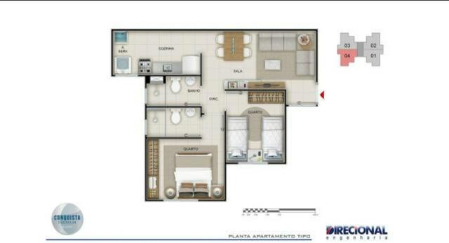 Conquista Premium Aleixo Apto. 2 qts 45 m2 ( contrato de gaveta ) - Foto 7