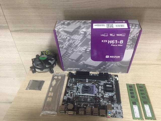 Kit placa mãe e processador i5-2400 4gb memória ddr3 - Foto 3