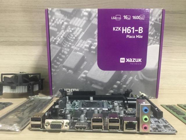 Kit placa mãe e processador i5-2400 4gb memória ddr3 - Foto 4