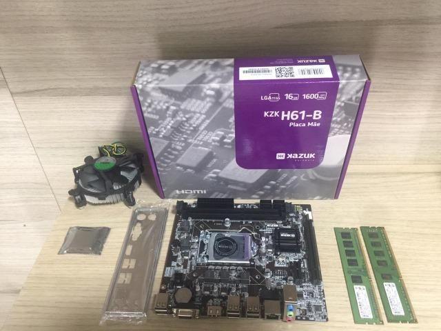 Kit placa mãe e processador i5-2400 4gb memória ddr3
