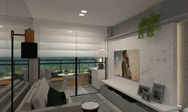 Cruz das Almas - Apartamentos quarto e sala e 2 quartos com vista para o mar - Foto 16