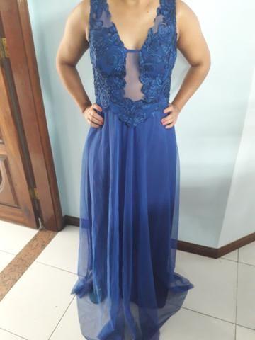 Vestido azul royal para festa